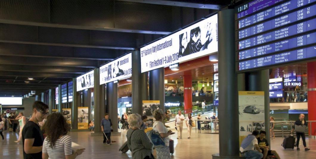 reklama nádraží Praha