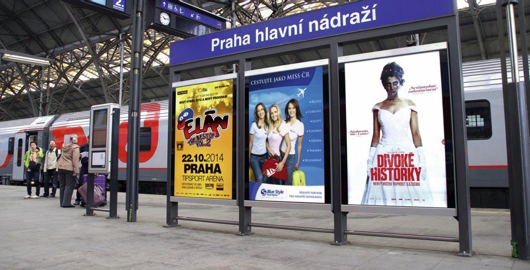 reklama nádraží